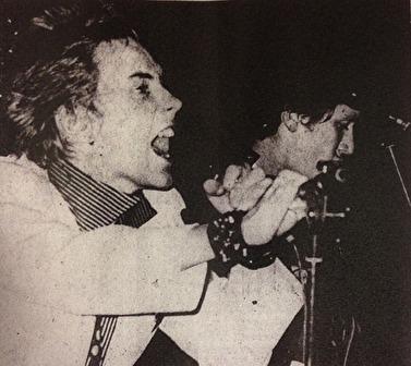 Johnny Rotten och Steve Jones. Foto: Håkan Falk, Jönköpings-Posten.