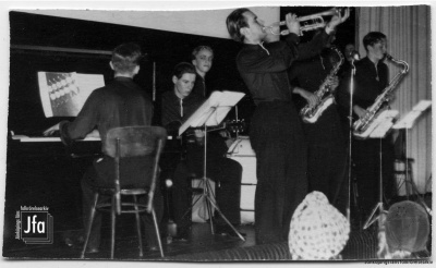 College Swing på biografen Saga 1 februari 1941. Foto från Birger Creutz samling. JFA 2013-028-008.