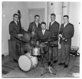 Wåge Finér Quintet i replokalen i Nässjö.