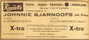Annons i Smålands Folkblad 14 september 1962.