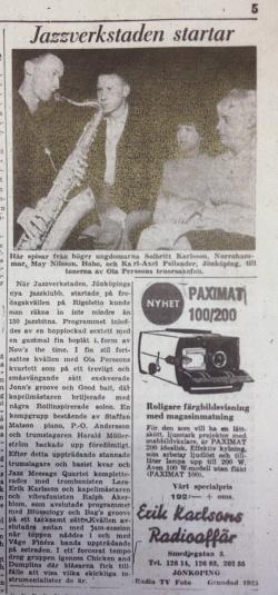 Jönköpings-Posten 2/12 1961.