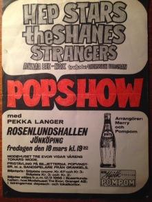 Affisch för popgalan 18 mars 1966.