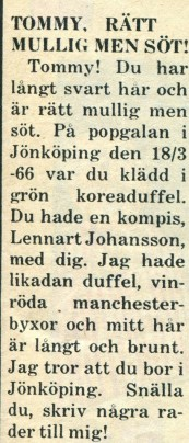 Klipp, hittat av Totte Ljunggren.