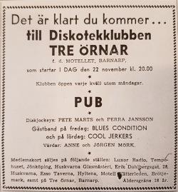 Annons i Jönköpings-Posten fredag 22/11 -68.
