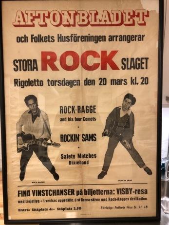 Affisch för rockgala i Jönköping 1958. Privat ägo.