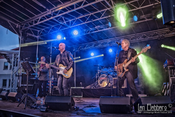 """Och här är resten av Lane - Peter Albertsson, Klas Öhling och Staffan """"Abbe"""" Schön. De spelade bland annat Deep Purples """"Into the Fire""""!. Foto: Lan Babbaro."""