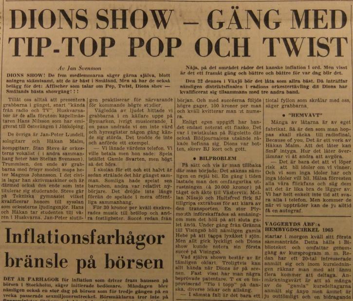 Smålands Folkblad 26 januari 1965.