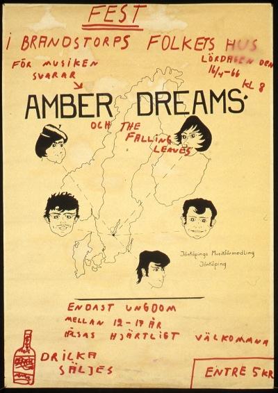 Affisch från april 1966, ägd av Bengt-Åke Skavhellen.