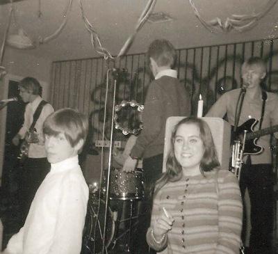 Popkonsert på Strågagården 1968. Foto från Lena Clarin.
