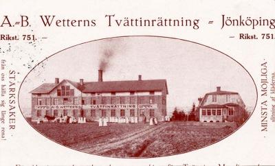 Ungdomsgården Vättergården inrymdes i den tidigare disponentbostaden till AB Wetterns Tvättinrättning, Östra Storgatan 115.