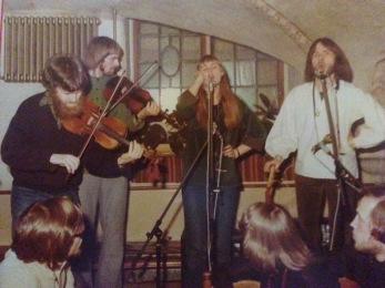 Johnny Soling, Kalle Almlöf, Carin Kjellman och Ulf Gruvberg. Foto: Göran Hallqvist.