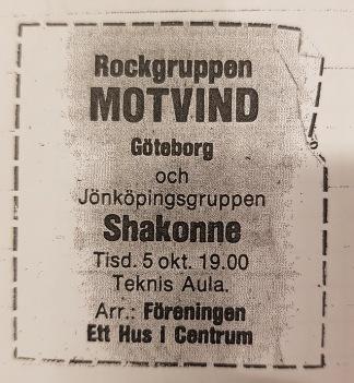 Annons från hösten 1976.