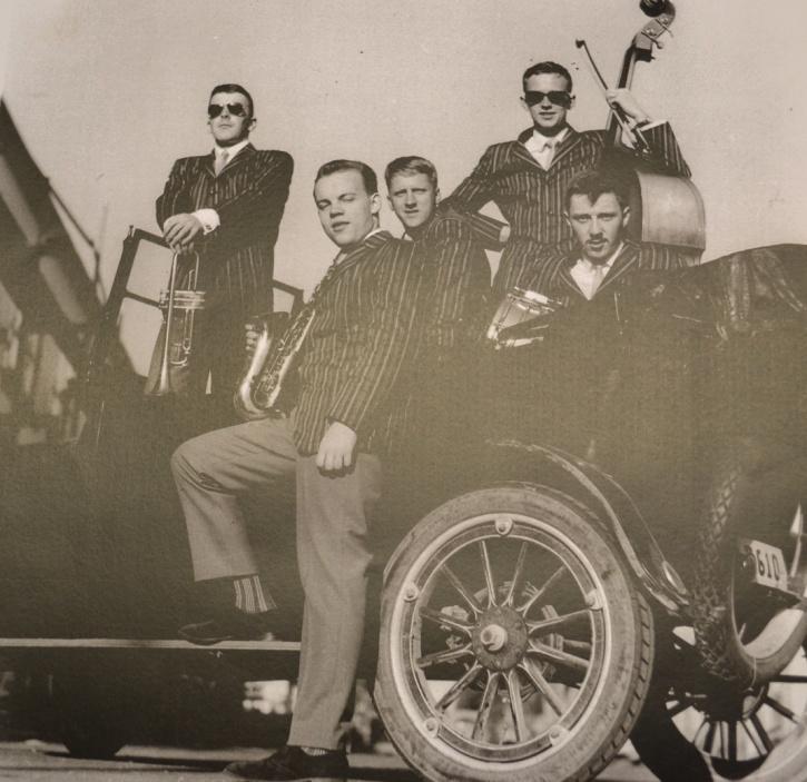 Reklambild för Wåge Finér Quintet, tidigt 1960-tal.