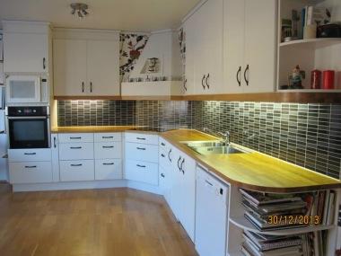 Kök med ombyggnadshurtsar