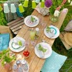 AM Sommar dukning bord uppifrån