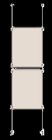 Vajersystem med 2 st 50x70 fickor i höjd