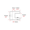 Enkel hyllhållare C1302