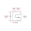 Enkel hyllhållare C1301