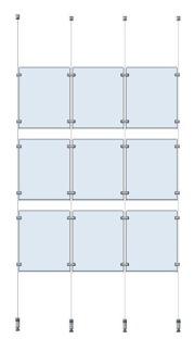 9st A4 fickor med vajer  - 9st A4 fickor med vajer golv/tak