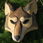 wolf - wooden mask