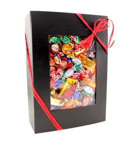 Svart Presentbox med Godis 4kg - Svart Presentbox med Godis 3kg