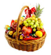 Exotiska fruktkorgar