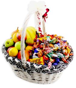 Presentkorg 60/40   Frukt/Godis 10kg - Presentkorg 60/40   Frukt/Godis 10kg