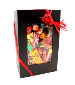 Svart Presentbox med Godis 1,5kg - Svart Presentbox med Godis 1,5kg