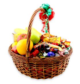 Presentkorg 60/40   Frukt/Godis 5kg - Presentkorg 60/40   Frukt/Godis 5kg