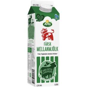 Mellanmjölk 1,5% 1l Arla Ko - Mellanmjölk 1,5% 1l Arla Ko