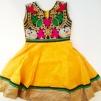 Barnklänning mönstrad Elsa - Elsa Gul stl. 30