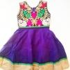 Barnklänning mönstrad Elsa - Elsa Lila stl. 32