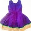 Barnklänning mönstrad Elsa
