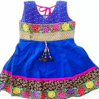 Indisk barnklänning - Anna flera färger - Anna Blå stl. 24