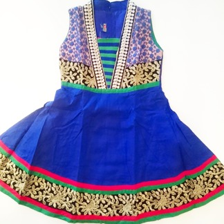 Barnklänning för fest - Aurora flera färger - Aurora Blå stl. 26