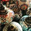 Orientalisk lykta Vit & silver