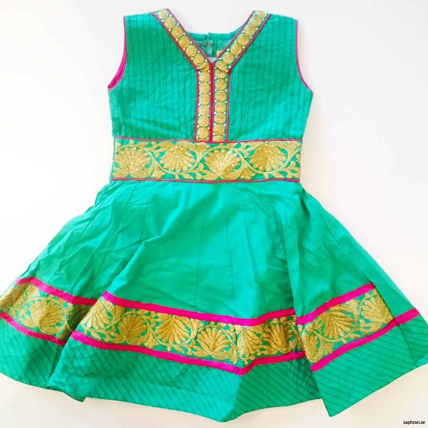 Barnklänning fest Ariel Grön