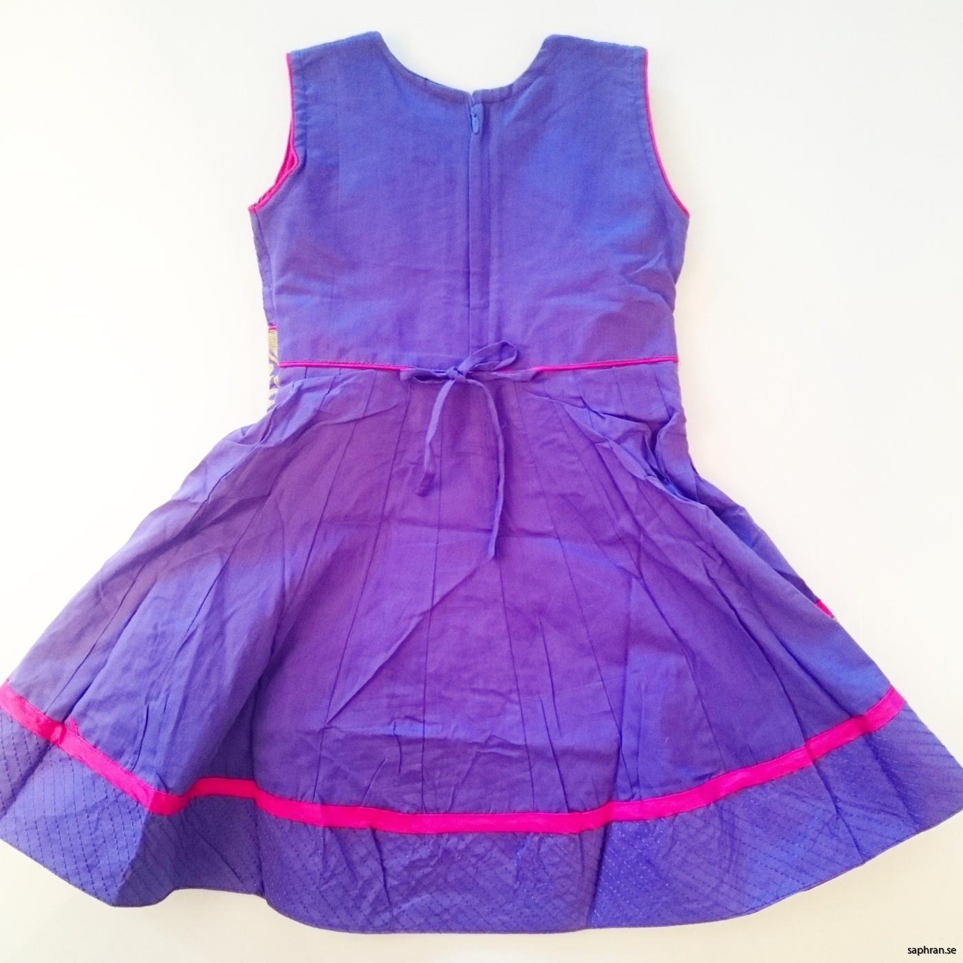 Barnklänning Ariel Lila bak
