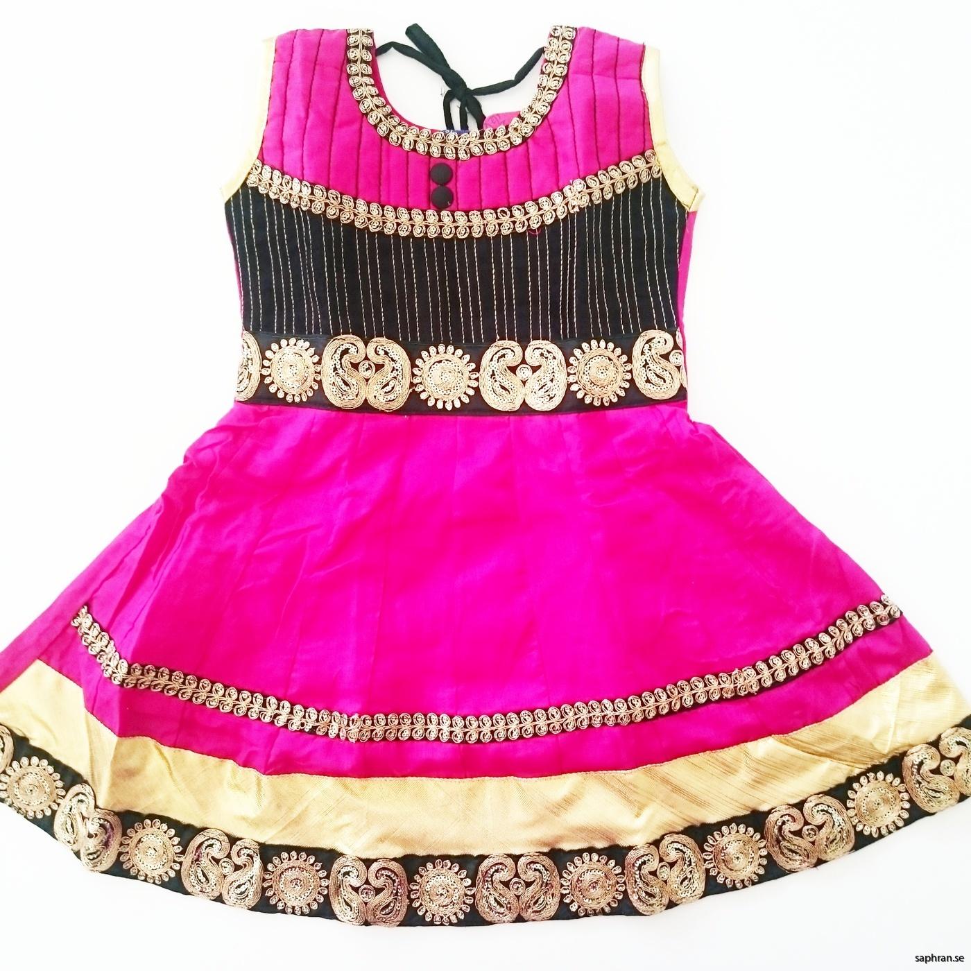 Indisk barnklänning cerise