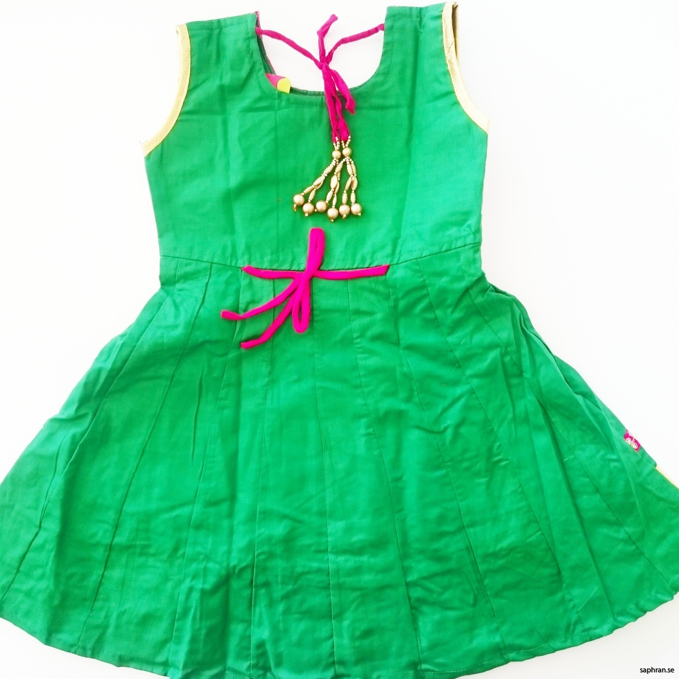 Indisk barnklänning grön