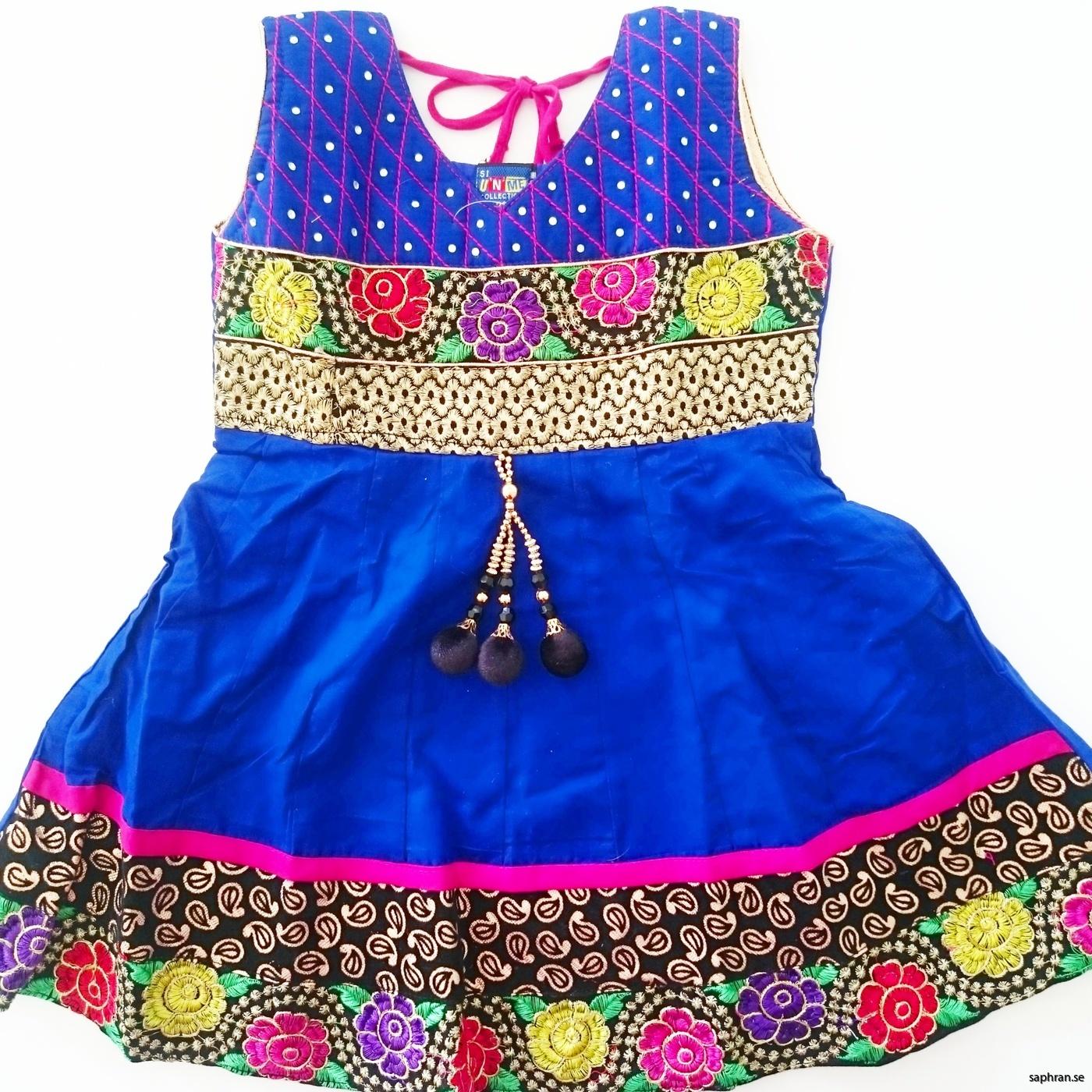 Indisk barnklänning Anna Blå
