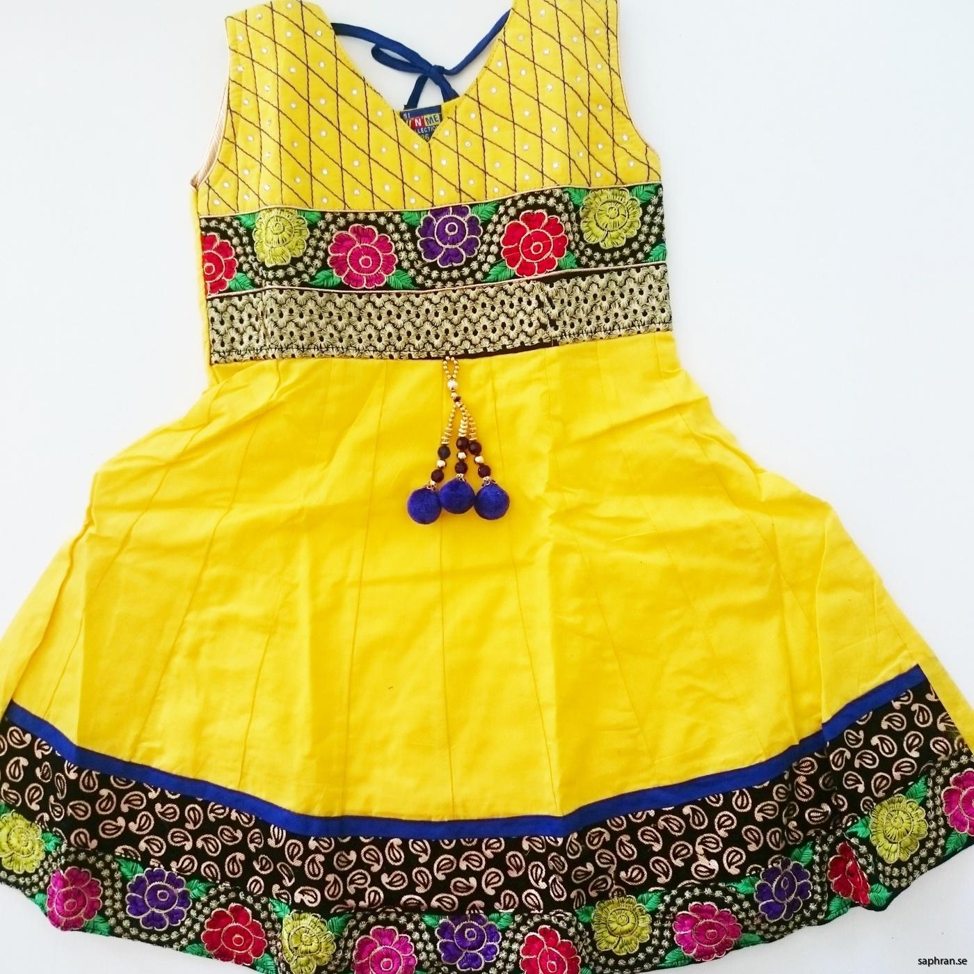 Indisk barnklänning Anna Gul