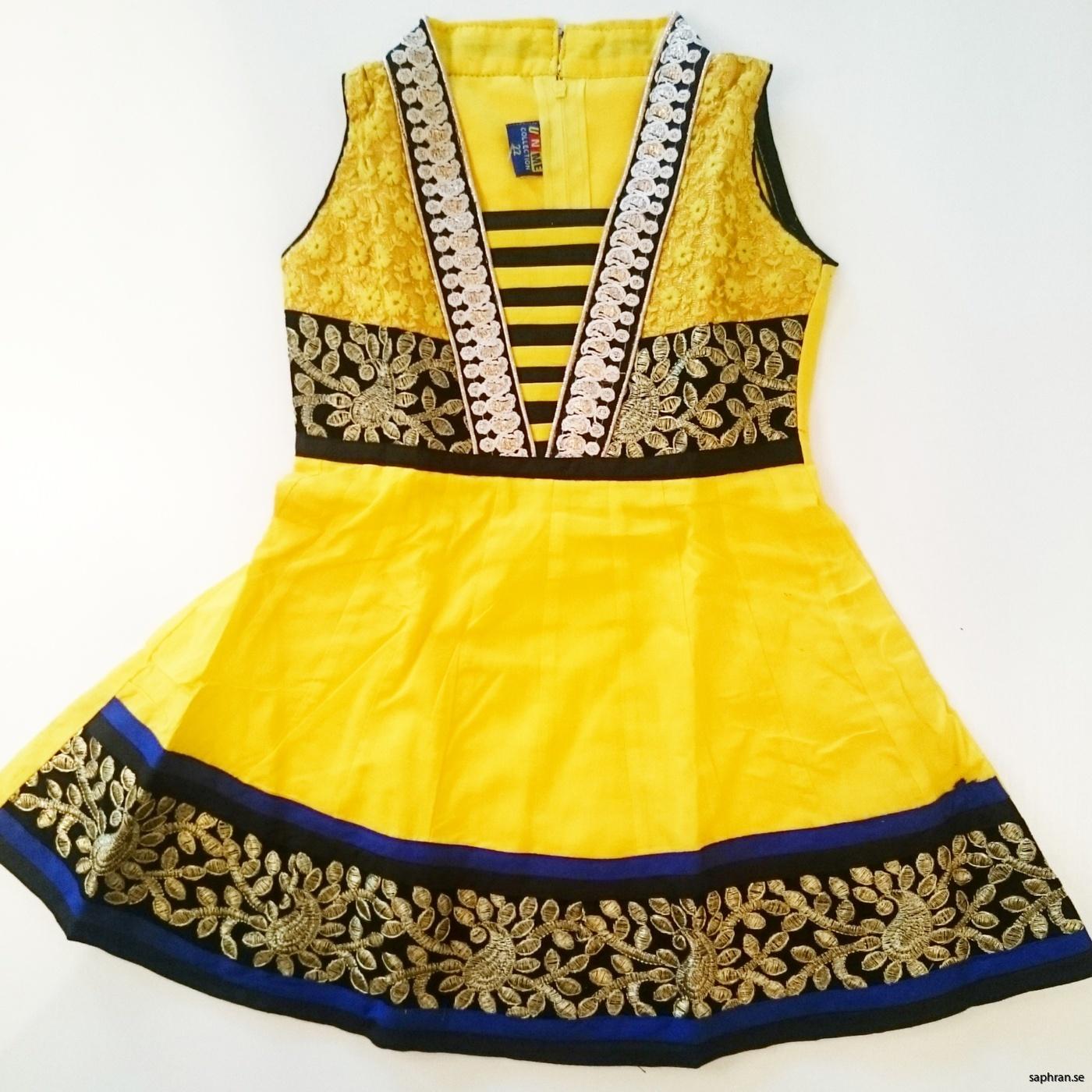 Barnklänning Aurora Gul