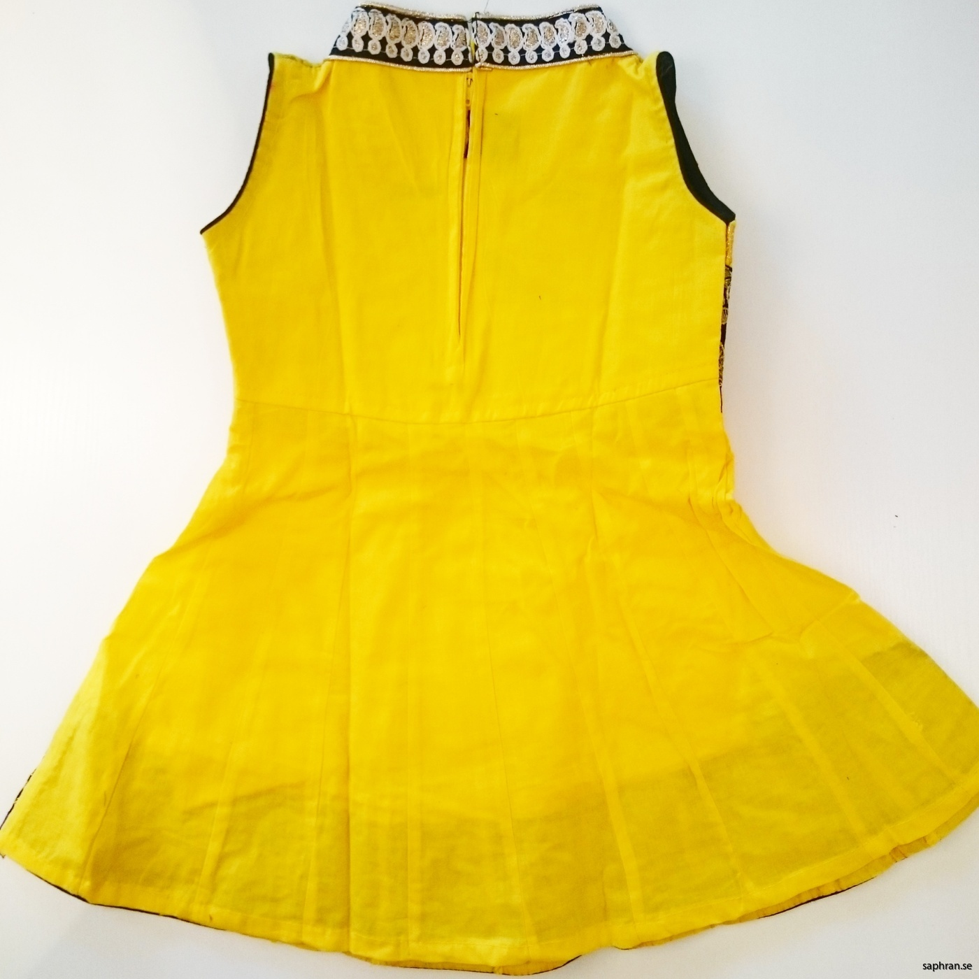 Barnklänning Aurora Gul bak