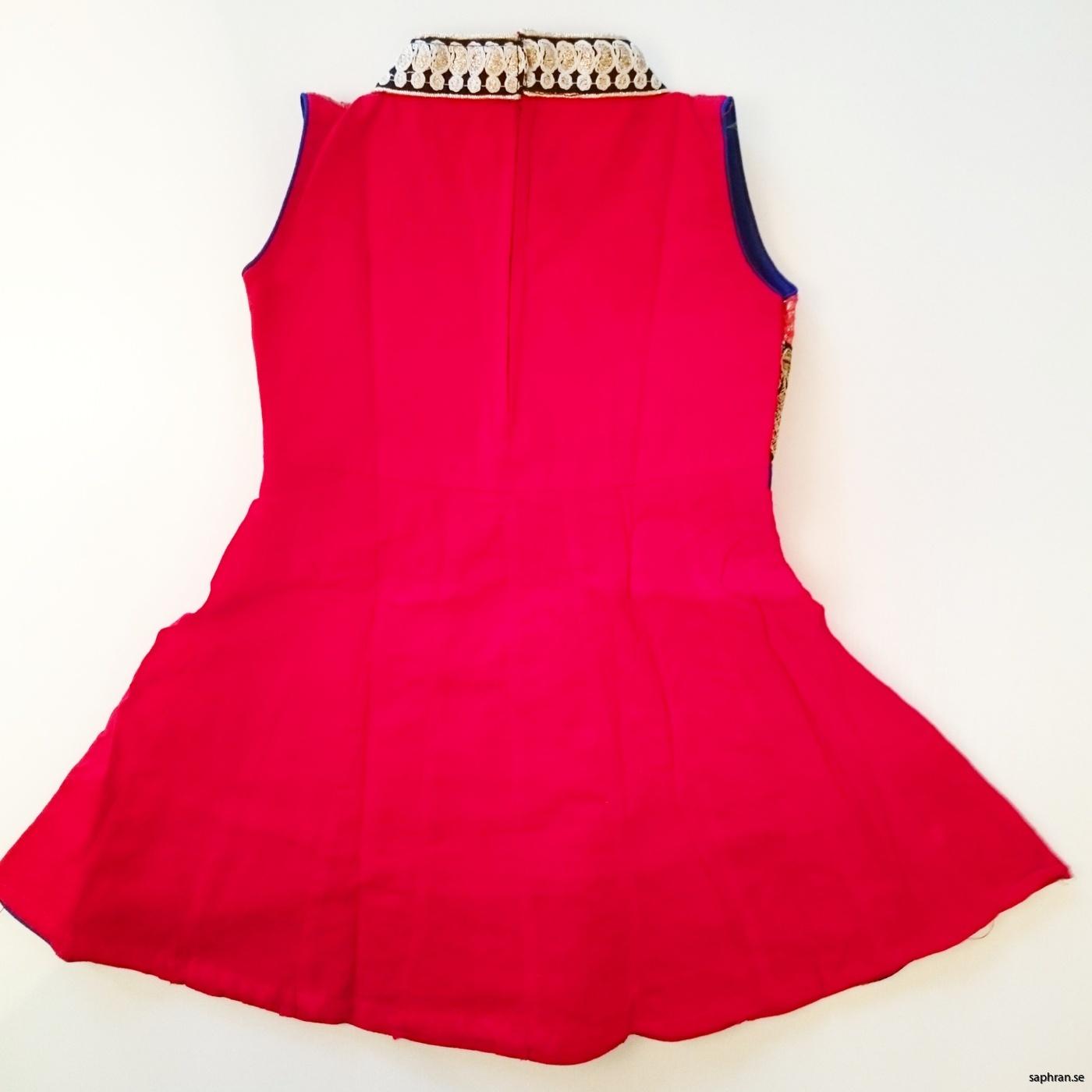 Barnklänning Aurora Röd bak