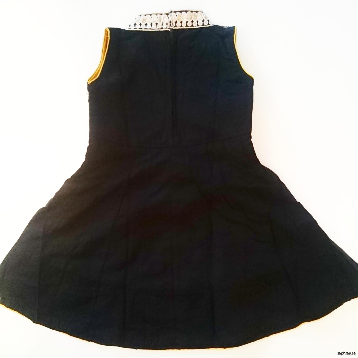 Barnklänning Aurora Svart bak