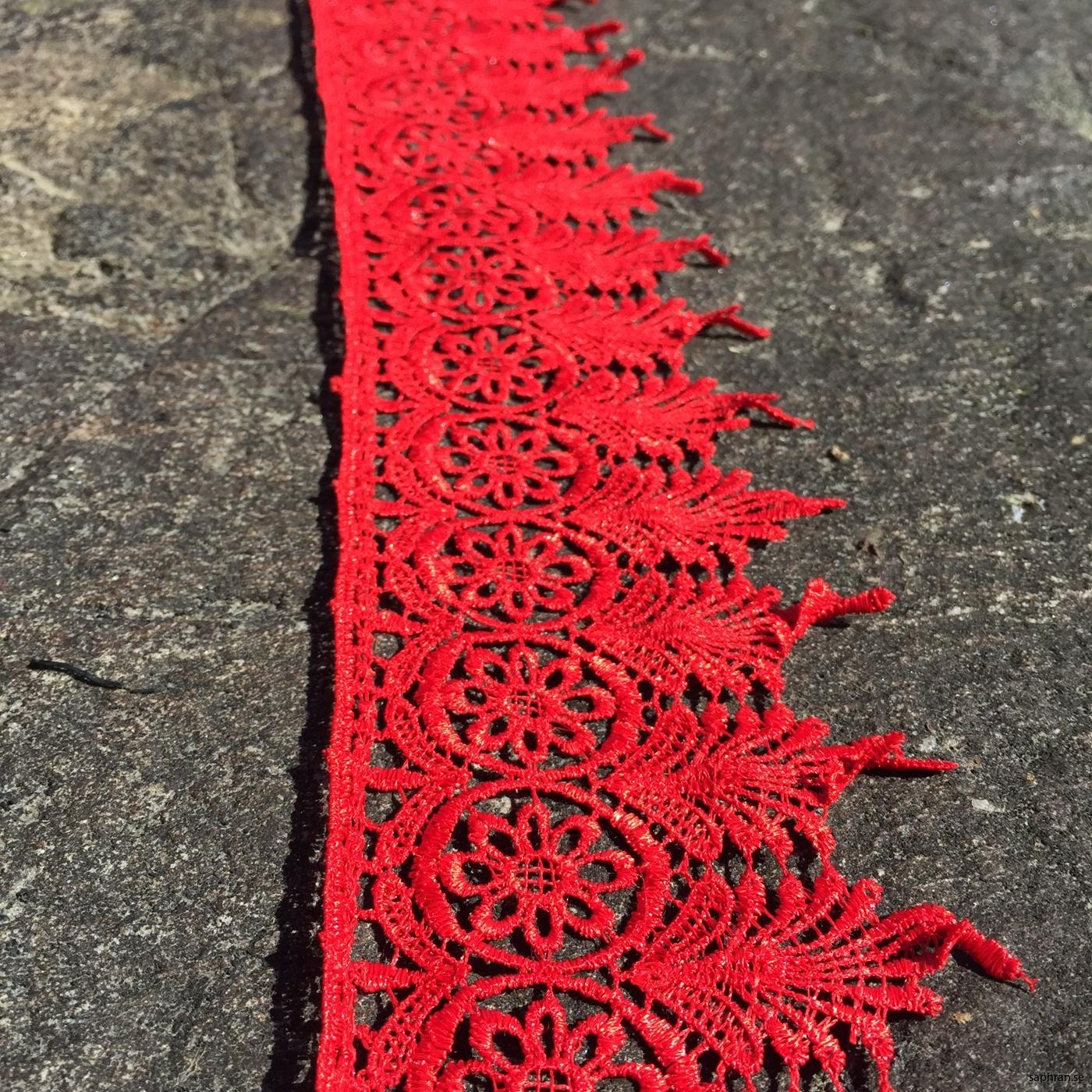 spets röd 7 meter