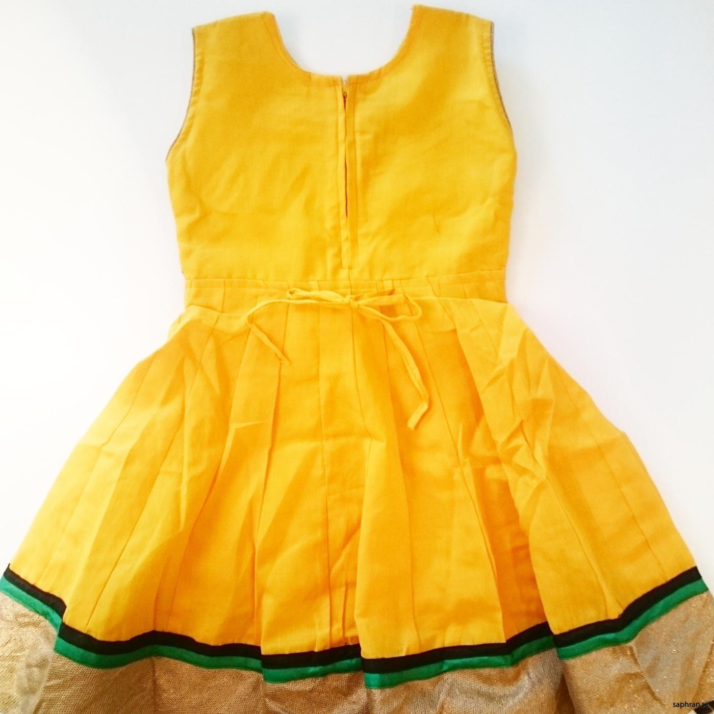 Barnklänning Elsa Gul bak