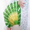 Haremsbyxor barn peacock Vita med grönt - Vita stl. XS