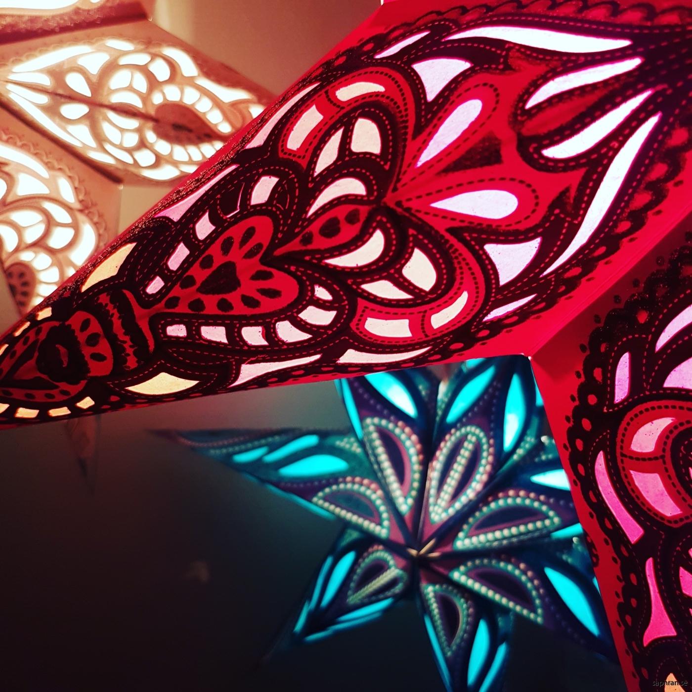 Orientaliska julstjärnor/adventsstjärnor från Saphran
